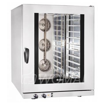 Конвекционная печь КЭП-10 (10 уровней 400х600 мм, камера-нерж, эл/механика, регул. влажности от 0% до 100%, без противней) вся нерж., Abat