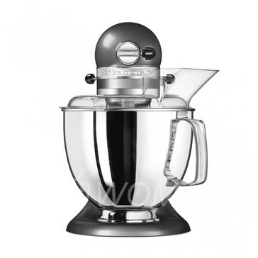 KitchenAid Миксер планетарный бытовой 5KSM175PSEMS, дежа 4.83л, 4 насадки, 2 чаши, серебряный медальон