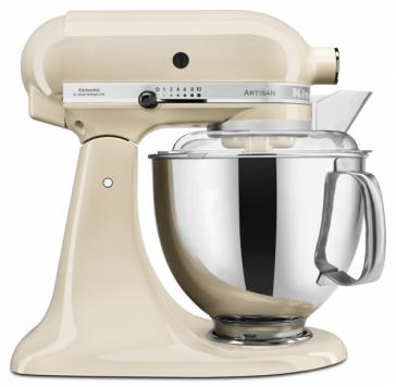 KitchenAid Миксер планетарный бытовой 5KSM175PSEAC, дежа 4.83л, 4 насадки, 2 чаши, кремовый