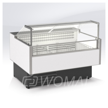 Cryspi Витрина морозильная Gamma Quadro M 1800 LED с боковинами