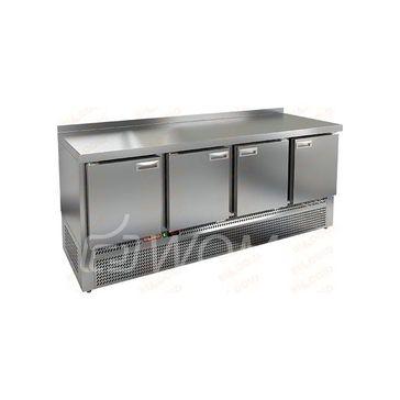 GNE 1111/BT стол охл.(-10-18), 4 двери, 1970х700х850мм, ниж.распол.агрегата, HICOLD RUS