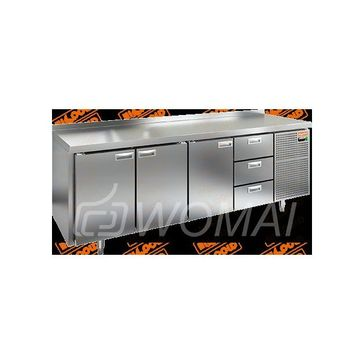 GN 1113/TN стол охл. (-2+10), 3 двери, 3 ящика, 2280х700х850мм, HICOLD RUS