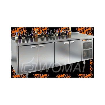 GN 1111 HT V стол охл. (-2+10), 4 двери, с ванной для льда под бутылки, 2280х700х850мм, HICOLD RUS