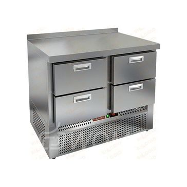 GNE 22/TN стол охл.(-2+10), 4 ящика, 1000х700х850мм, ниж.распол.агрегата, HICOLD RUS