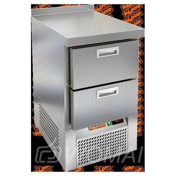 GNE 2/BT стол охл.(-10-18), 2 ящика, 565х700х850мм, ниж.распол.агрегата, HICOLD RUS