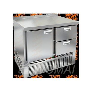 GNE 12/BT стол охл.(-10-18), 1 дверь, 2 ящика, 1000х700х850мм, ниж.распол.агрегата, HICOLD RUS