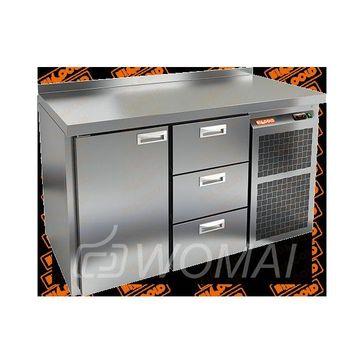 GN 13 BR2 TN стол. охл. (-2+10), 1 дверь, 3 ящика, увелич. объема, на низ. ножках, 1505х700х850мм, HICOLD RUS