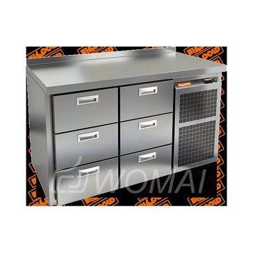 GN 33 BR2 BT стол. охл. (-10-18), 1 дверь, 3 ящика, увелич. объема, на низ. ножках, 1505х700х850мм, HICOLD RUS