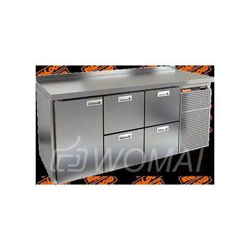 GN 122 BR2 BT стол. охл. (-10-18), 1 дверь, 4 ящика, увелич. объема, на низ. ножках, 1950х700х850мм, HICOLD RUS