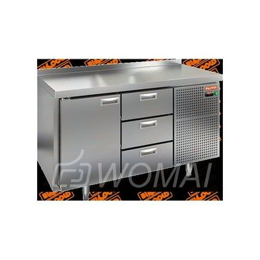 BN 13/TN стол охл (-2+10), 1 дверь, 3 ящика, 1390х500х850мм, HICOLD RUS