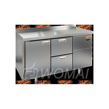 BN 12/BT стол охл. (-10-18), 1 дверь, 2 ящика, 1390х500х850мм, HICOLD RUS