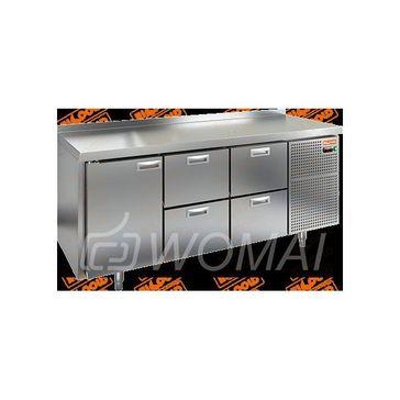 BN 122/BT стол охл. (-10-18), 1 дверь, 4 ящика, 1835х500х850мм, HICOLD RUS