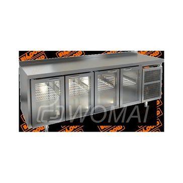 BNG 1111 HT стол охл. (+2+10), 4 стеклянные двери, 2280х500х850мм, HICOLD RUS