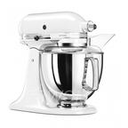 KitchenAid Миксер планетарный бытовой 5KSM175PSEWH, дежа 4.83л, 4 насадки, 2 чаши, белый