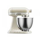 KitchenAid Миксер планетарный бытовой MINI 5KSM3311XEAC, дежа 3,3л, 3 насадки, 1 чаша, кремовый