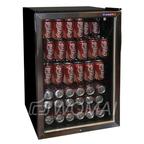 Шкаф холодильный со стеклом COOLEQ TBC-145 ЧЕРНЫЙ