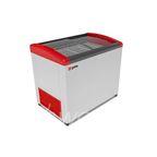 Морозильник горизонтальный GELLAR FG 350 E (FG 300 E) красный