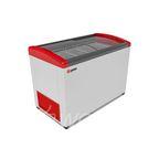 Морозильник горизонтальный GELLAR FG 400 E красный