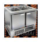 SLE3-11GN БЕЗ КРЫШКИ стол для салатов, охл.(+2+10), 2 двери, 1000х700х850мм, ниж.распол.агрегата, HICOLD RUS