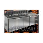 SL2-1111GN (1/6) стол для салатов  охл.(+2+10), 4 двери, 2280х700х850мм, HICOLD RUS