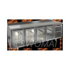 GNG 1111 HT стол охл.(+2+10), 4 стеклянные двери, 2280х700х850мм, HICOLD RUS