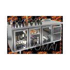 SNG 111 HT V стол охл.(+2+10), 3 распаш.стекл.двери, с ванной для льда под бутылки, 1835х600х850мм, HICOLD RUS