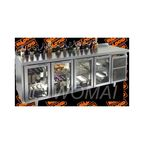 SNG 1111 HT V стол охл.(+2+10), 4 распаш.стекл.двери, с ванной для льда под бутылки, 2280х600х850мм, HICOLD RUS
