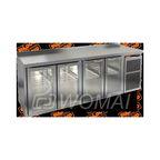 GNG 1111 BR2 HT стол. охл.(+2+10), 4 распаш.стекл.двери, увелич. объема, на низ. ножках, 2395х700х850мм, HICOLD RUS