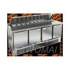 SLE1-1111SN (1/3) стол для салатов  охл.(+2+10), 4 двери, 1970х600х850мм, ниж.распол.агрегата, HICOLD RUS