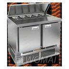 SLE1-11SN (1/3) стол для салатов  охл.(+2+10), 2 двери, 1000х600х850мм, ниж.распол.агрегата, HICOLD RUS