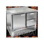 GNE 12/TN стол охл.(-2+10), 1 дверь, 2 ящика, 1000х700х850мм, ниж.распол.агрегата, HICOLD RUS