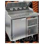 PZ1-1/GN (1/3Н) КАМЕНЬ стол для пиццы охл.(+2+10), 1 дверь, 900х700х850мм, глубина раб.пов. 324мм, HICOLD RUS