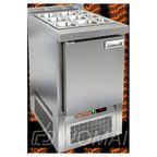 SLE3-1GN БЕЗ КРЫШКИ стол для салатов, охл.(+2+10), 1 дверь, 565х700х850мм, ниж.распол.агрегата, HICOLD RUS