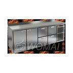 BN 1122 BR2 BT стол охл. (-10-18), 2 двери, 4 ящика, увелич. объёма, на низ. ножках, 2280х500х850мм, HICOLD RUS