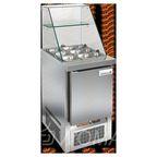 SLE3-1GN ВЫСОКОЕ СТЕКЛО стол для салатов, охл. (+2+10), 1 дверь, 565х700х1315мм, ниж.распол.агрегата, HICOLD RUS