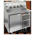 PZ1-1/GN (1/3Н) СО СТЕКЛОМ стол для пиццы охл. (+2+10), 1 дверь, 900х700х1160мм, глубина раб.пов. 324мм, HICOLD RUS
