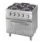 Газовая плита OSOGF 8070 LS, 4 конфорки, с духовкой, газ.