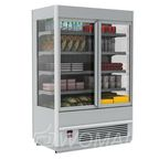 Витрина пристенная холодильная FC20-08 VV 1,3-1 (распашные двери стекл. фронт) Полюс