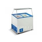 Витрина для мороженого с гнутым лобовым стеклом VENUS 26 VЕTRINE без крышки запасника