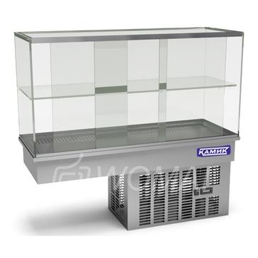 Холодильная витрина встраиваемая (стекло) 1200х450х600(1150)  Камик
