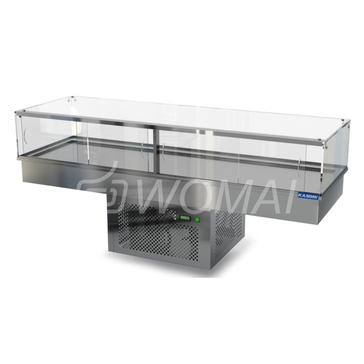 Холодильная витрина встраиваемая (стекло) 2100х650х300(850)  Камик