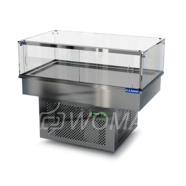 Холодильная витрина встраиваемая (стекло) 1300х450х300(850)  Камик