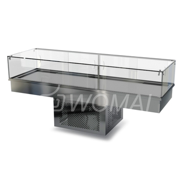 Холодильная витрина встраиваемая (стекло) 2000х450х300(850)  Камик