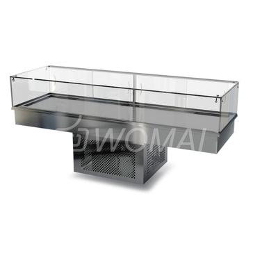 Холодильная витрина встраиваемая (стекло) 2100х450х300(850)  Камик
