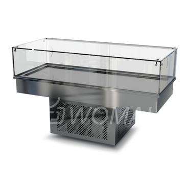 Холодильная витрина встраиваемая (стекло) 1400х650х300(850)  Камик