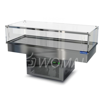 Холодильная витрина встраиваемая (стекло) 1400х450х600(1150)  Камик