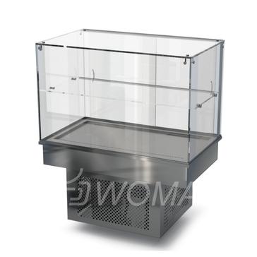 Холодильная витрина встраиваемая (стекло) 900х650х600(1150)  Камик