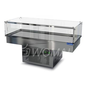 Холодильная витрина встраиваемая (стекло) 1400х650х600(1150)  Камик