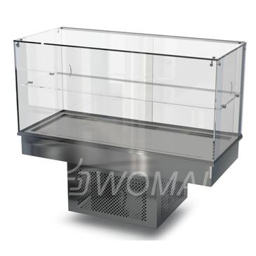 Холодильная витрина встраиваемая (стекло) 1500х650х600(1150)  Камик
