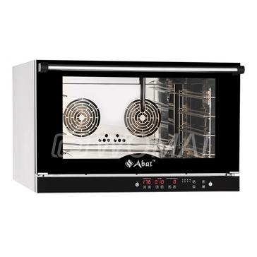 Конвекционная печь КЭП-4П (4 уровня 400х600 мм, камера-нерж, программируемая, без противней) вся нерж., Abat